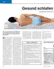 Gesund schlafen - Betten Thaler