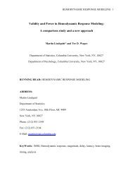 Validity and Power in Hemodynamic Response Modeling: A ...