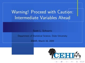 Intermediate Variables Talk - Department of Statistical Science ...