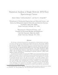 Statistical Analysis of Single-Molecule AFM Force Spectroscopy ...