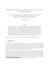 Estimating the number of pure chemical components in a mixture by ...