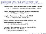 Introduction to Adaptive Interventions and SMART Study Design ...