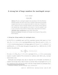 A strong law of large numbers for martingale arrays - Department of ...