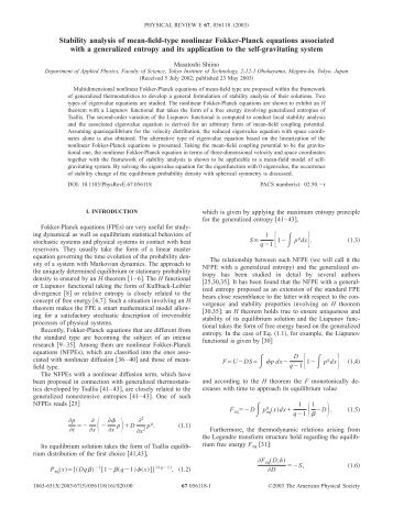 Stability analysis of mean-field-type nonlinear Fokker-Planck ...