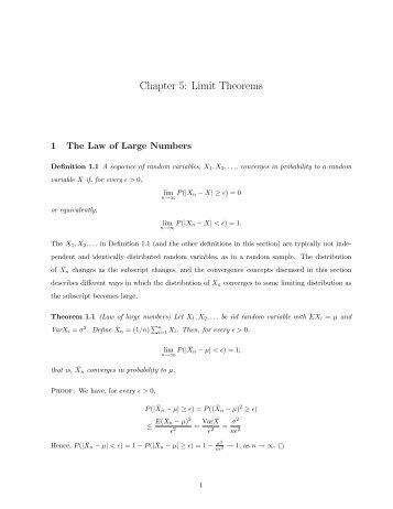 Chapter 5: Limit Theorems