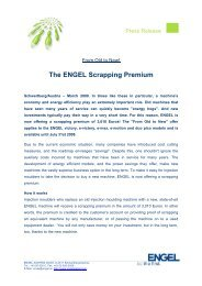 The ENGEL Scrapping Premium - Engel Austria