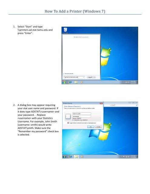 Adding a Printer in Windows 7