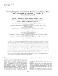 Testing for Spatial Correlation in Nonstationary Binary Data, with ...