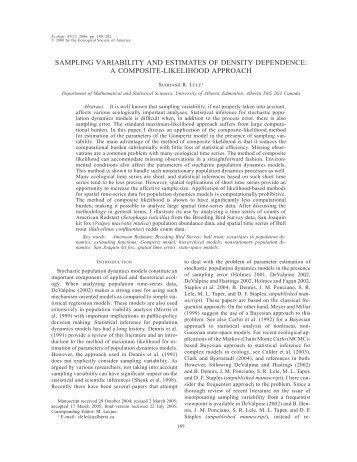 sampling variability and estimates of density dependence