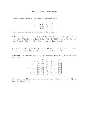 stats 2606 assignment 3 solutions