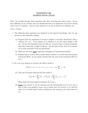 final exam note sheet Final exam the exam is an individual effort and should not be discussed with others send your completed exam to your assignment folder by the last day of class the purpose of the exam is to demonstrate your understanding of both written and discussion materials presented in this course.