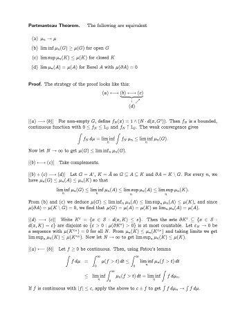 Portmanteau Theorem and Central Limit Theorem