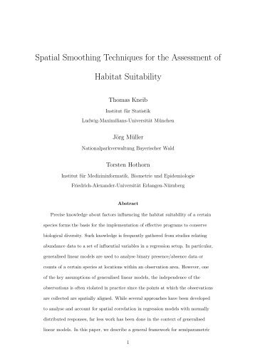 Spatial Smoothing Techniques for the Assessment ... - ResearchGate