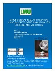 discrete-event simulation in clinical trials - Institut für Statistik ...