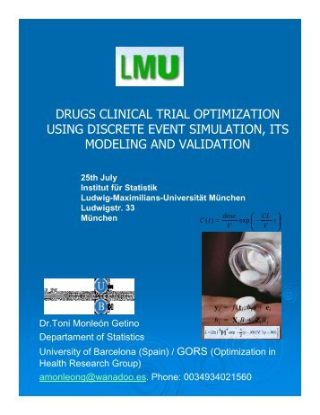 discrete-event simulation in clinical trials - Institut für Statistik ...