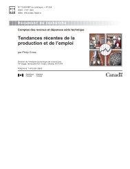 Tendances récentes de la production et de l'emploi - Statistique ...