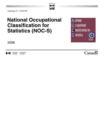 National Occupational Classification for Statistics (NOC-S)