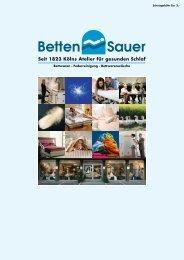 Seit 1823 Kölns Atelier für gesunden Schlaf - Betten Sauer GmbH in ...