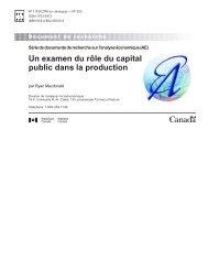 Un examen du rôle du capital public dans la production - Statistique ...