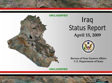 raq Status Report - 08 April 2009 - US Department of State