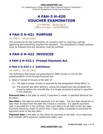 4 fah-3 h-420 voucher examination - US Department of State