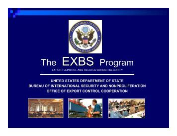 The EXBS Program - US Department of State