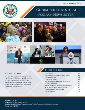 Global Entrepreneurship Program Newsletter - US Department of State