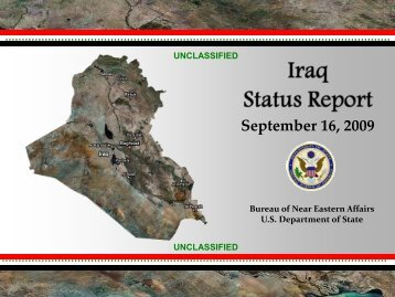 Iraq Status Report - 22 April 2009 - US Department of State