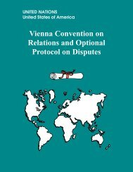 Vienna Convention on Relations and Optional Protocol on Disputes