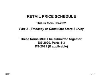 retail price schedule