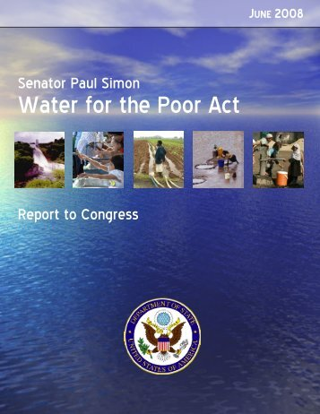Senator Paul Simon Water for the Poor Act - US Department of State