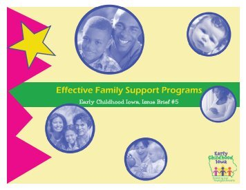 Effective Family Support Programs - Early Childhood Iowa