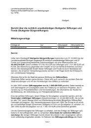 Stiftung - Landeshauptstadt Stuttgart