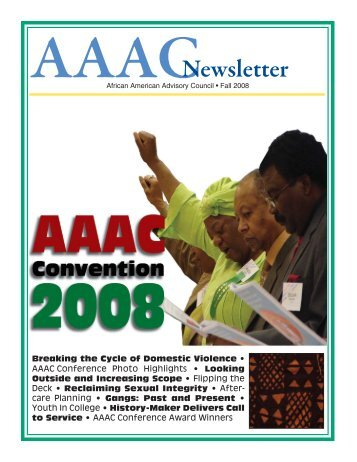African American Advisory Council Newsletter (Fall ... - State of Illinois