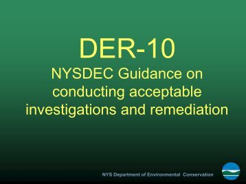 DER 10, PowerPoint Presentations - New York State Department of ...