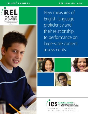 New measures of English language proficiency and their - Eric - U.S. ...
