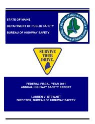 STATE OF MAINE DEPARTMENT OF PUBLIC SAFETY ... - Maine.gov