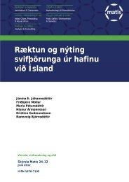 Ræktun og nýting svifþörunga úr hafinu við Ísland