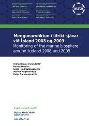 Mengunarvöktun í lífríki sjávar við Ísland 2008 og 2009 ... - Matís