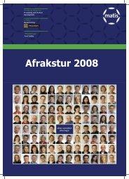 Afrakstur 2008