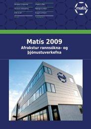 Afrakstyrsforsida 2009.indd