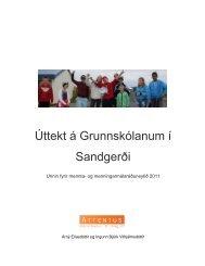 unnin fyrir mennta- og menningarmálaráðuneytið 2011