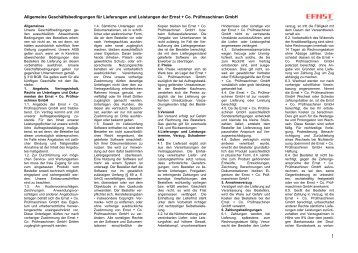 Unsere AGB als PDF Download hier klicken! - ernst-gruppe.de