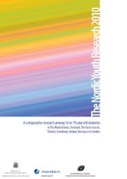 The Nordic Youth Research 2010 : a comparative research among ...