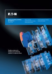 Panel mounting switches IEC 60947-3 Flexible solutions for ... - Eaton