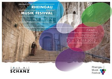RHEINGAU MUSIK FESTIVAL AUF REISEN - Go Israel