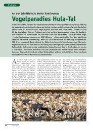 Vogelparadies Hula-Tal - Go Israel