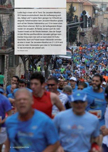 Laufen liegt in Israel voll im Trend. Der Jerusalem ... - Go Israel