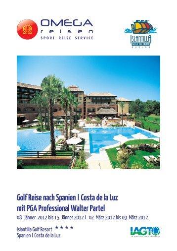 Golf Reise nach Spanien ICosta de la Luz mit PGA Professional ...