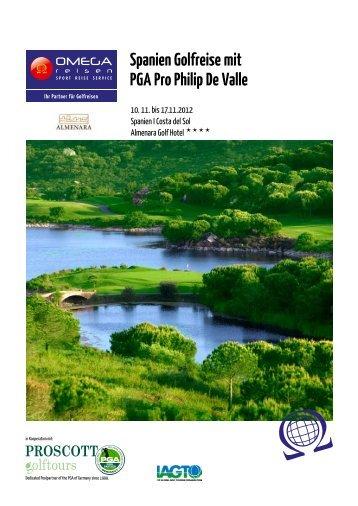 Spanien Golfreise mit PGA Pro Philip De Valle - Omegareisen ...